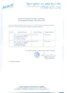 Quarterly FC Receipt October December 2015