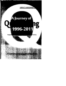 A JOURNEY OF QUESTIONING 1996-2011 -Impact Assessment Report
