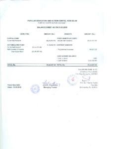 Audit Report FCRA FY 2018-19